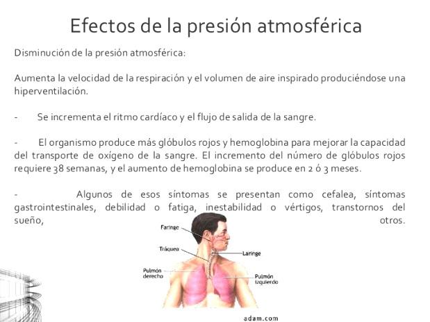 Consecuencias de la presión atmosférica - Presión atmosférica
